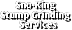 Sno-King Stump Grinding